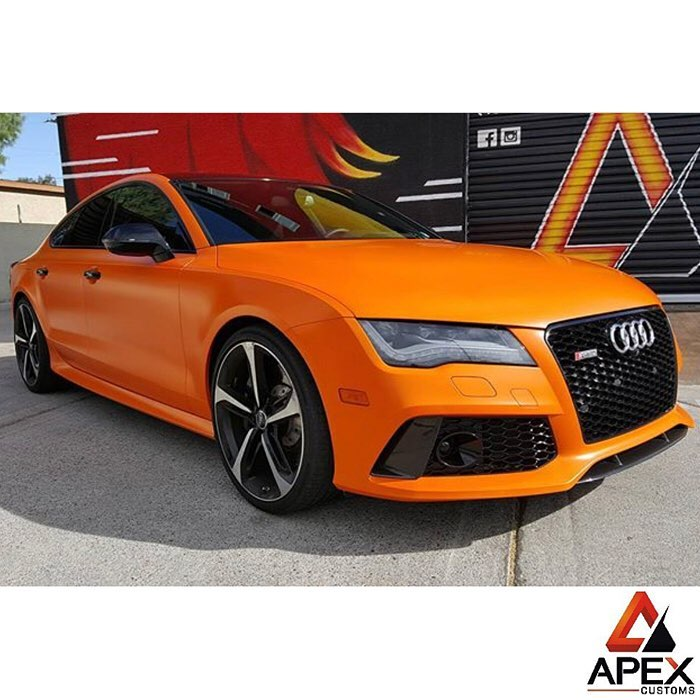 Audi Rs7 Wrapped In Avery S New Sw Satin Orange Vinyl