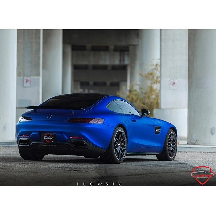 Mercedes Benz wrapped in Avery SW Matte Brilliant Blue Metallic vinyl