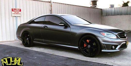 Mercedes-Benz wrapped in 1080 Satin Dark Grey vinyl