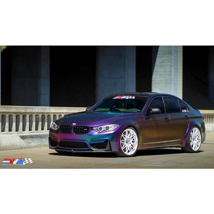 Bmw Wrapped In Avery S New Colorflow Lightening Ridge