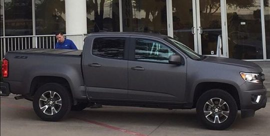 Chevrolet wrapped in Avery SW Matte Charcoal Metallic vinyl