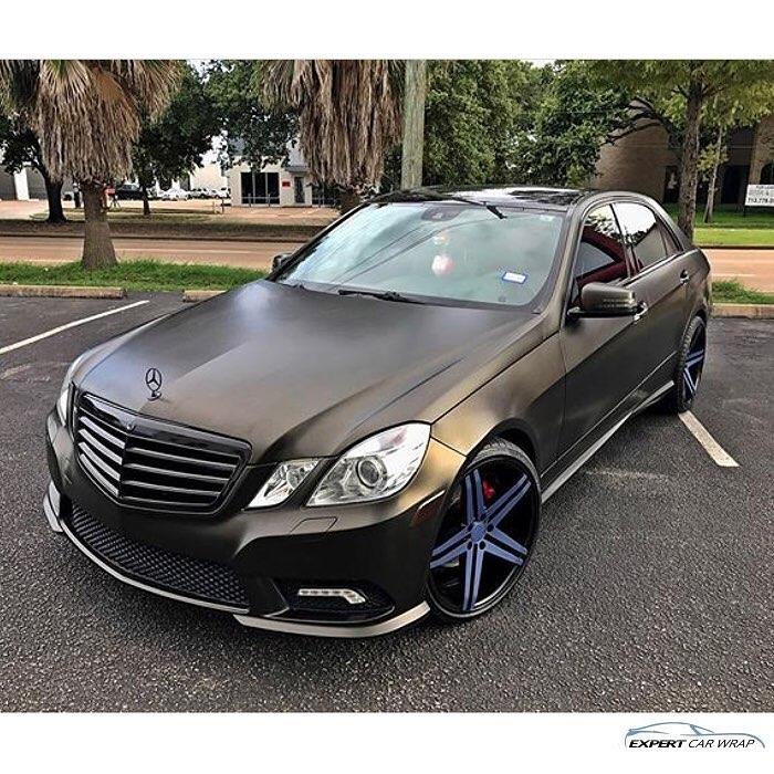 Mercedes Benz Wrapped In Satin Gold Dust Black Vinyl