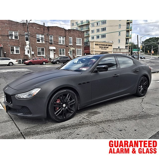 maserati wrapped in avery sw matte black vinyl