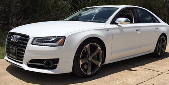 Audi wrapped in Matte White vinyl