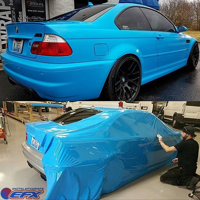 Bmw Wrapped In Avery Sw Gloss Light Blue Vinyl