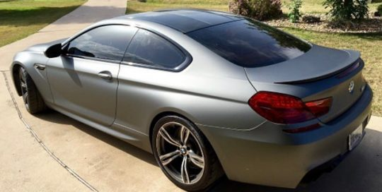 BMW wrapped in Avery SW Matte Gunmetal Metallic vinyl