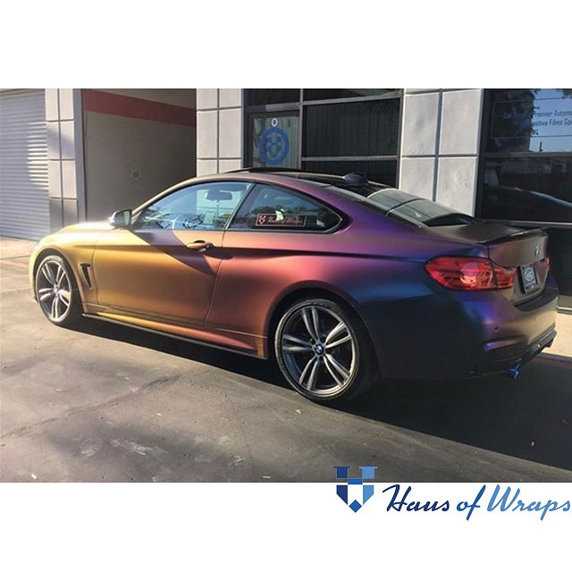 Bmw Wrapped In Avery Colorflow Satin Rushing Riptide Cyan