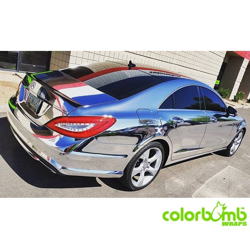 Mercedes Benz Wrapped In Avery Sw Silver Chrome Vinyl