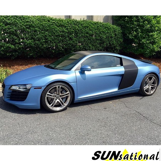 Audi Wrapped In Matte Frosty Blue Metallic Vinyl