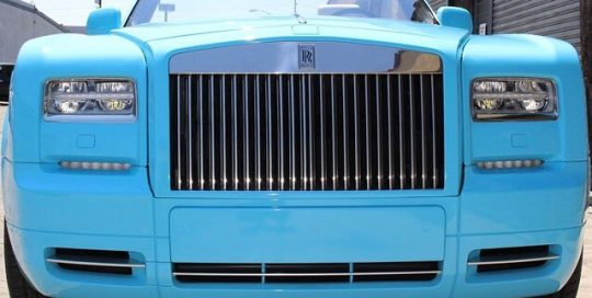 Rolls Royce wrapped in 3M 1080 Gloss Sky Blue vinyl