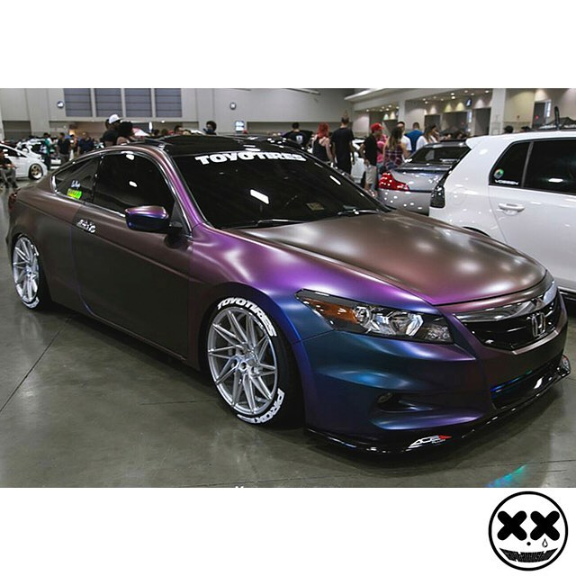 Honda Wrapped In Avery Colorflow Satin Rushing Riptide