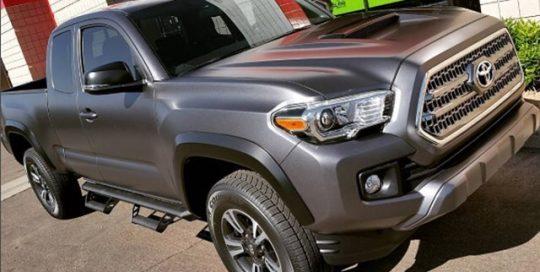 Toyota wrapped in 3M 1080 Matte Dark Grey vinyl