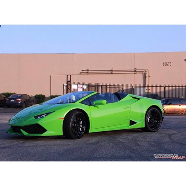 Lamborghini Wrapped In Avery Sw Gloss Grass Green Vinyl