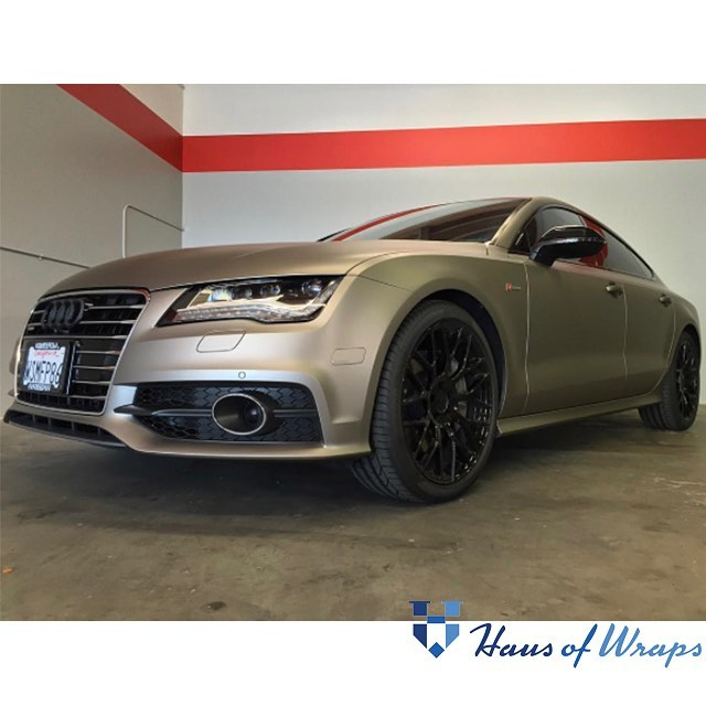 Audi Wrapped In 1080 Matte Gray Aluminum Vinyl