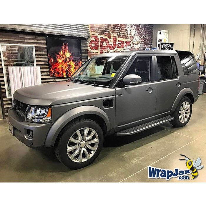 Land Rover Wrapped In Avery Sw Matte Charcoal Metallic Vinyl