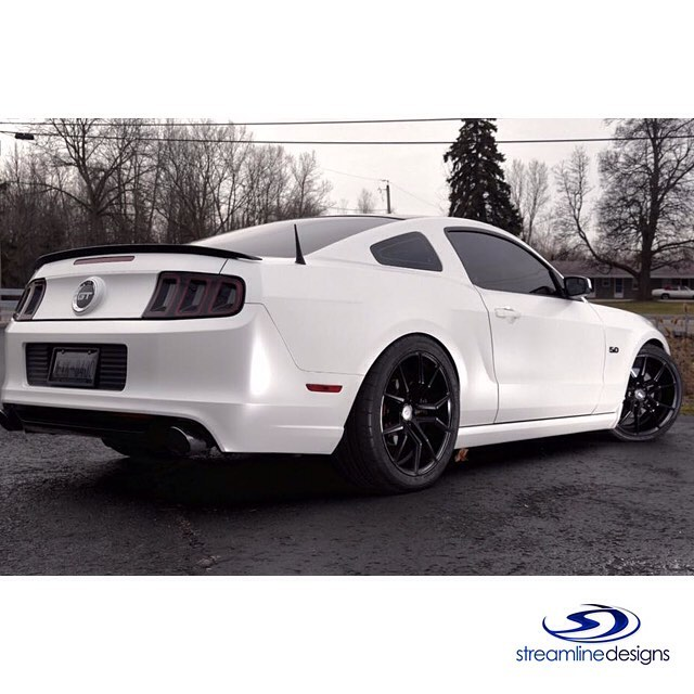 Ford Mustang Wrapped In Avery Sw Satin Pearl White Vinyl