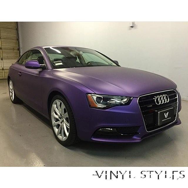 Audi Wrapped In Avery Sw Matte Metallic Purple Vinyl