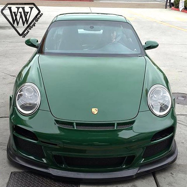 Porsche Wrapped In Avery Sw Gloss Dark Green Vinyl