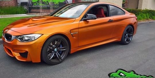 BMW wrapped in 3M 1080 Gloss Liquid Copper vinyl