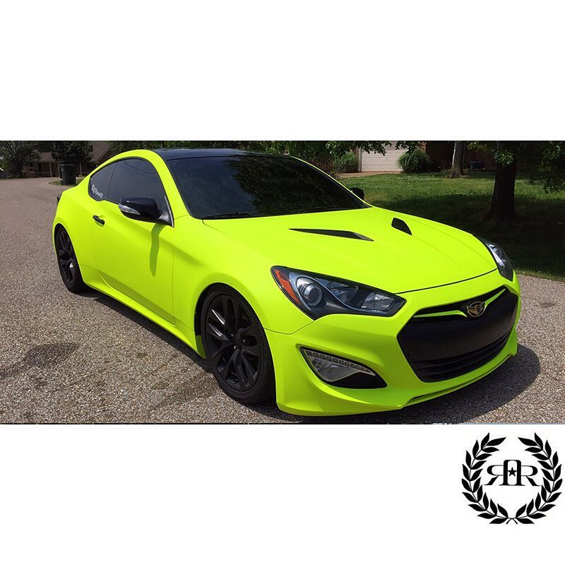 Hyundai Wrapped In Arlon Upp Matte Fluorescent Hi Liter