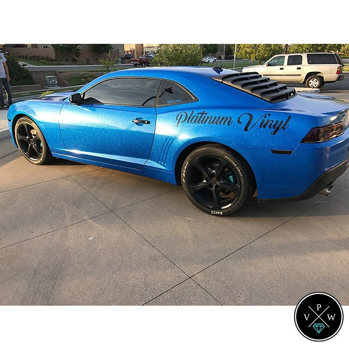 Chevrolet Camaro Wrapped In Avery Sw Metallic Diamond Blue