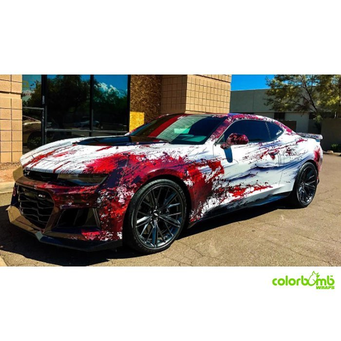 Chevrolet Camaro Wrapped In Avery 1105ezrs Vinyl With