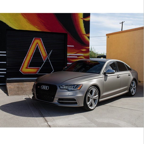 Audi Wrapped In 3m 1080 M230 Matte Gray Aluminum