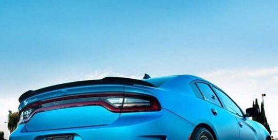 Dodge wrapped in 1080 Satin Ocean Shimmer