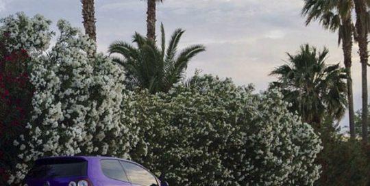 Volkswagen wrapped in Arlon UPP Amethyst Candy vinyl