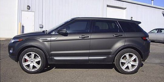 Range Rover wrapped in 1080 Matte Black vinyl