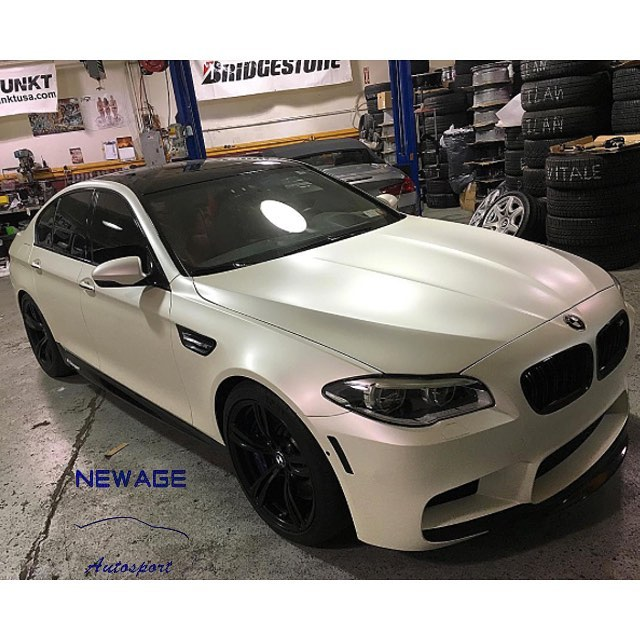 Bmw Wrapped In 3m 1080 Sp10 Satin Pearl White