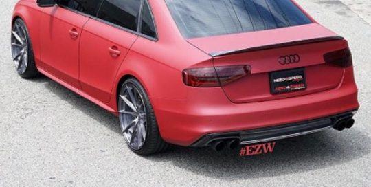 Audi wrapped in Avery SW900-472M Matte Garnett Metallic