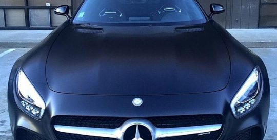 Mercedes Benz wrapped in 3M 1080-S10 Satin Black