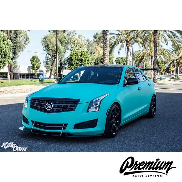 Cadillac Wrapped In Avery Sw900 713 Matte Vintage Green