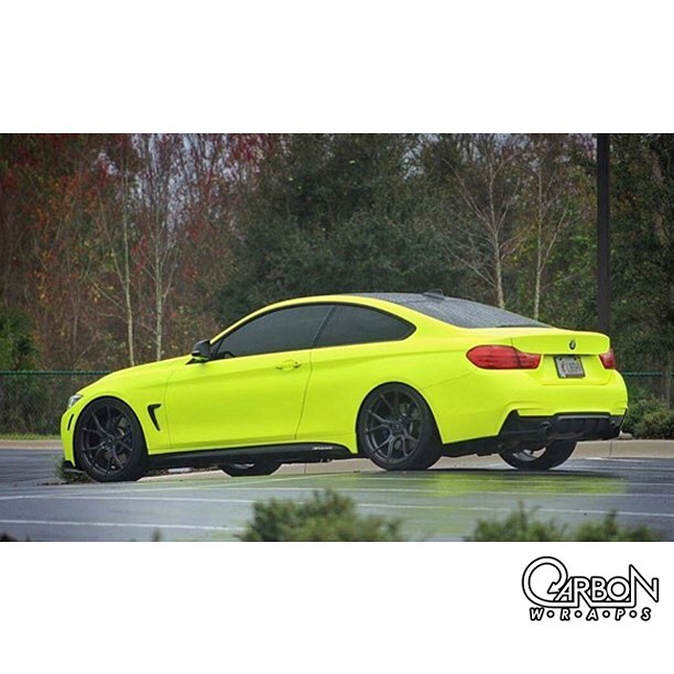 Bmw Wrapped In 3m 1080 Vcw17076 Satin Neon Fluorescent Yellow