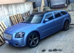 Ford wrapped in Avery SW900-614M Matte Powder Blue Metallic