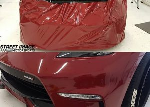 Nissan wrapped in Avery SW900-475 Gloss Gloss Burgundy