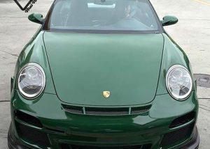 Porsche wrapped in Avery SW900-792 Gloss Dark Green
