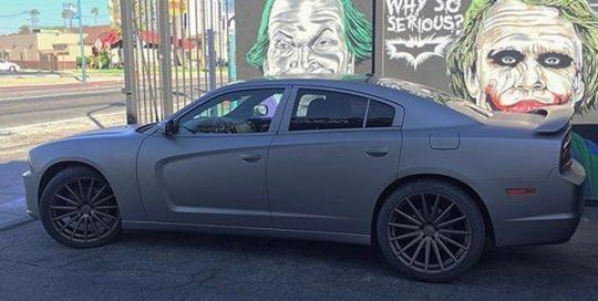 Dodge wrapped in 1080 Matte Gray Aluminum vinyl