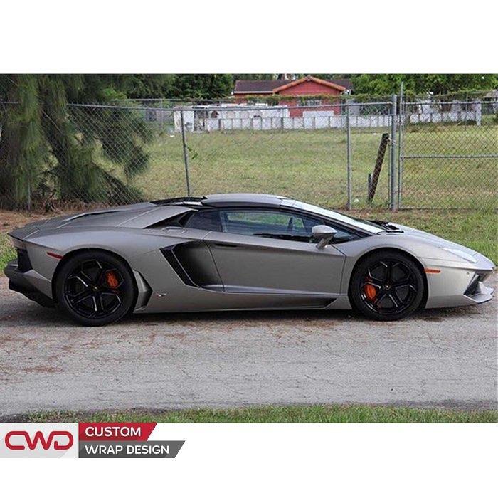 Lamborghini Wrapped In 3m 1080 M30 Matte Gray Aluminum