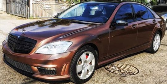 Mercedes Benz wrapped in Avery SW Gloss Brown Metallic vinyl