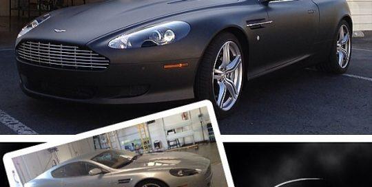 Aston Martin wrapped in 1080 Matte Black