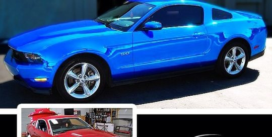 Ford wrapped in Avery SW Blue Chrome