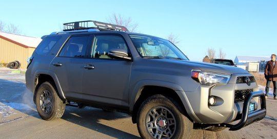 Toyota wrapped in Avery SW Matte Gunmetal Metallic vinyl