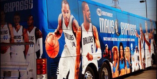 Bus wrapped in Avery 1005EZRS vinyl