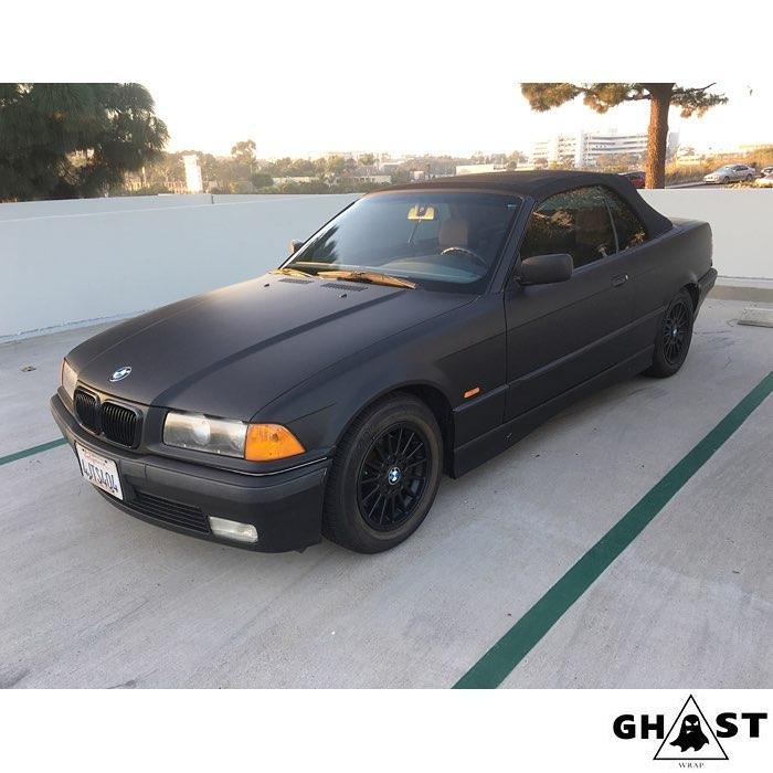 BMW wrapped in Avery SW Matte Black vinyl