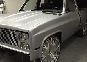 Chevrolet wrapped in 3M 1080-S120 Satin White Aluminum