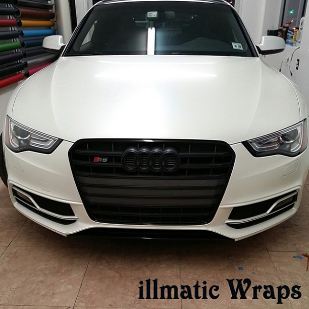 Audi Wrapped In 3m 1080 Sp10 Satin Pearl White