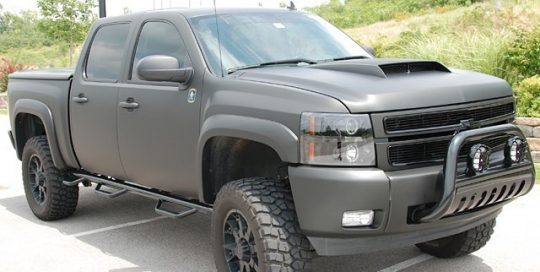 Chevrolet wrapped in 3M 1080-M12 Matte Black