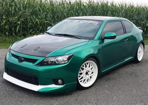 Toyota Scion wrapped in Avery SW900-796 Gloss Dark Green Pearl